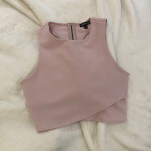 Express Crop Top with Cut Out Back
